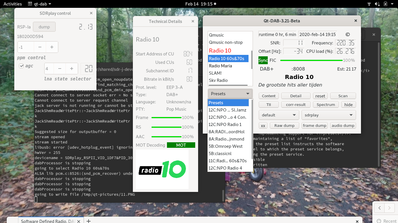 Software Defined Radio, DAB, FM and much more